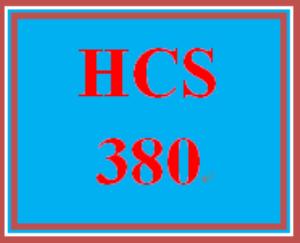 HCS 380 Week 1 Reference Chart | eBooks | Education