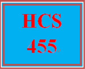 HCS 455 Week 4 Current Policy Part II: Topic Selection | eBooks | Education