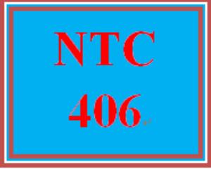 NTC 406 Week 3 Individual: Internet Transport Services | eBooks | Education
