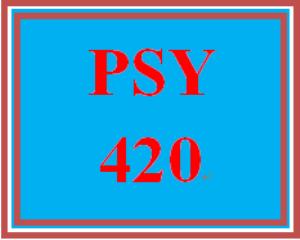 PSY 420 Week 3 Designing a Reinforcement Exam | eBooks | Education