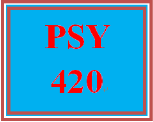 PSY 420 Week 5 Self-Management Paper | eBooks | Education