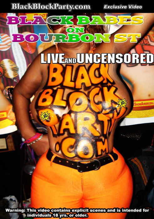 First Additional product image for - [SD] BLACK BABES ON BOURBON ST. - LIVE & UNCENSORED (New Orleans LA)