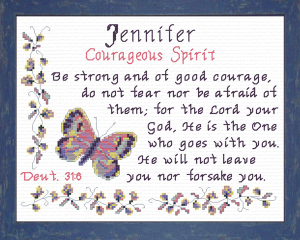 Name Blessings - Jennifer 3 | Crafting | Cross-Stitch | Religious