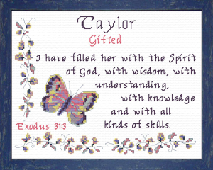 Name Blessings - Taylor 2 | Crafting | Cross-Stitch | Other