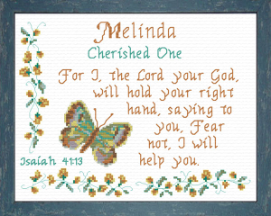 Name Blessings - Melinda | Crafting | Cross-Stitch | Religious