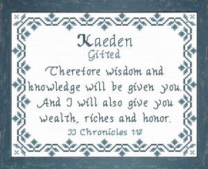 name blessings - kaeden