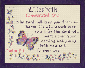 Name Blessings - Elizabeth 5 | Crafting | Cross-Stitch | Religious