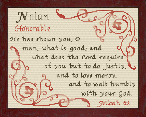 Name Blessings - Nolan 2 | Crafting | Cross-Stitch | Religious