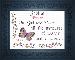 Name Blessings - Sophia 2 | Crafting | Cross-Stitch | Religious