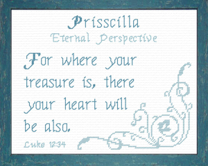 Name Blessings - Prisscilla | Crafting | Cross-Stitch | Religious