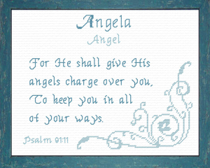 Name Blessings - Angela | Crafting | Cross-Stitch | Religious