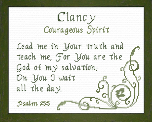 Name Blessings - Clancy | Crafting | Cross-Stitch | Religious