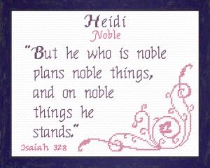 name blessings - heidi 2