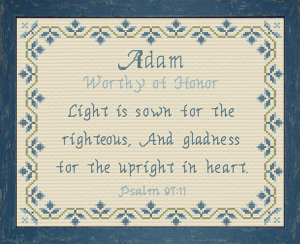 Name Blessings - Adam 2 | Crafting | Cross-Stitch | Religious