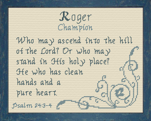 Name Blessings - Roger 2 | Crafting | Cross-Stitch | Religious