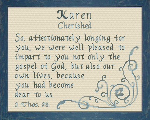 Name Blessings - Karen 2 | Crafting | Cross-Stitch | Religious