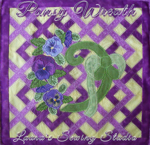 Pansy Wreath DST | Crafting | Embroidery