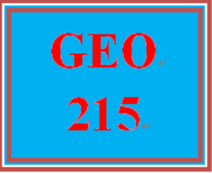 GEO 215 Week 5 Urbanization Analysis, Green Options & Global Warming Strategies Part 2 | eBooks | Education