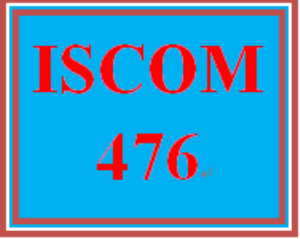 ISCOM 476 Week 5 eCommerce Process | eBooks | Education