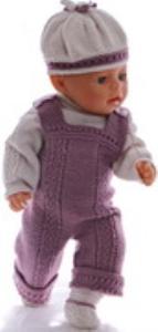dollknittingpatterns 0173d amanda - genser, overall, lue og sko-(norsk)