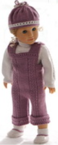 dollknittingpattern 0173d amanda - sweater, pants, cap and shoes-(english)