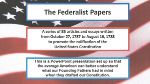 The Federalist No. 21 | Documents and Forms | Presentations