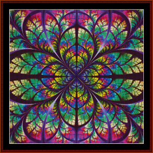 Fractal 621 cross stitch pattern by Cross Stitch Collectibles | Crafting | Cross-Stitch | Wall Hangings