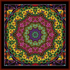 fractal 622 cross stitch pattern by cross stitch collectibles