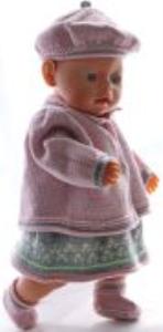 dollknittingpatterns 0174d valerie - robe, culotte, chapeau, veste et chaussettes-(francais)