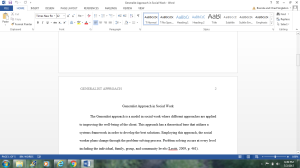 Assignment: Generalist Practice | Documents and Forms | Research Papers