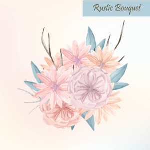 Rustic Vector Bouquet, Watercolor floral bouquet, Pastel flower bouquet, Bohemian floral bouquet, Floral Design Element, Floral Clip art | Other Files | Graphics