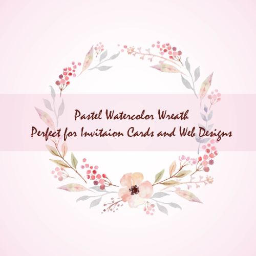 First Additional product image for - 6 Pastel Watercolor Floral Elements, Pastel wreath, floral bouquets, floral text divider, Watercolor floral elements set, Floral Clip art
