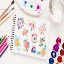 10 watercolor bouquets Bundle1, watercolor flowers, watercolor invitation elements, watercolor cliparts, watercolor floral elements, digital | Other Files | Graphics