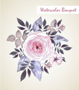 Vintage watercolor Floral Bouquet, Watercolor flowers, Watercolor floral elements. Watercolor invitation elements, watercolor clip arts | Photos and Images | Clip Art