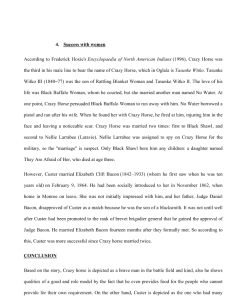 Crazy Horse and Custer History 5 Pages | Documents and Forms | Research Papers