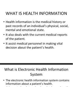 the impact of health information systems power point