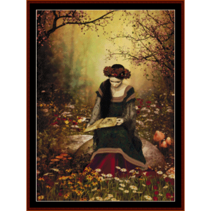 Forest Reading - Fantasy cross stitch pattern by Cross Stitch Collectibles | Crafting | Cross-Stitch | Wall Hangings