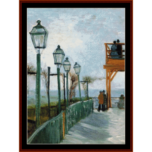 Belvedere Overlooking Montmarte - Van Gogh cross stitch pattern by Cross Stitch Collectibles | Crafting | Cross-Stitch | Wall Hangings
