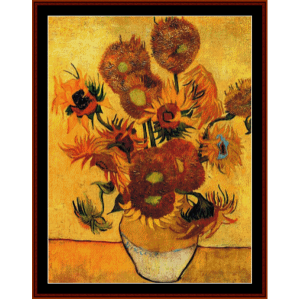 Fifteen Sunflowers - Van Gogh cross stitch pattern by Cross Stitch Collectibles | Crafting | Cross-Stitch | Wall Hangings
