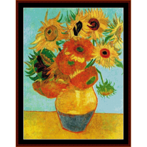 Twelve Sunflowers - Van Gogh cross stitch pattern by Cross Stitch Collectibles | Crafting | Cross-Stitch | Wall Hangings