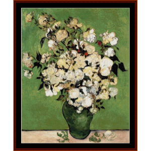 Vase of Roses II - Van Gogh cross stitch pattern by Cross Stitch Collectibles | Crafting | Cross-Stitch | Other