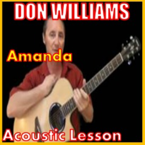 learn to play amanda by don williams