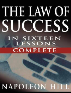 The Law of Success in 16 Lessons by Napoleon Hill | eBooks | Self Help