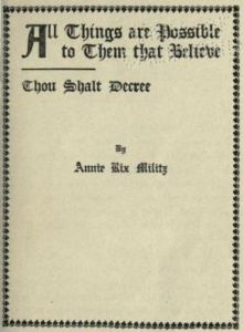 All Things are Possible to Them That Believe by Annie Rix Militz | eBooks | Self Help