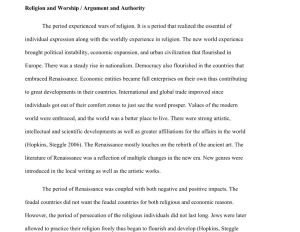 The Renaissance argument and authority research paper 5 pages | Documents and Forms | Research Papers