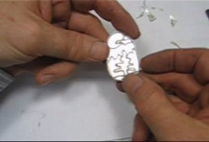 chip inlay taught by don norris, silversmithing for jewelry making.