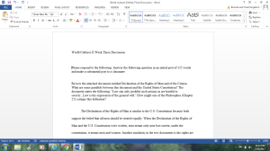 World Cultures II | Documents and Forms | Research Papers