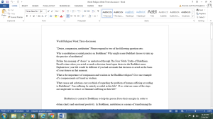 World Religion Week Three discussion | Documents and Forms | Research Papers