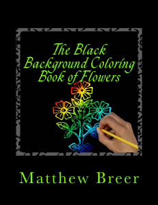 The Black Background Coloring Book of Flowers PDF | eBooks | Arts and Crafts