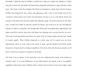 Black Like Me Research Paper 2 Pages | Documents and Forms | Research Papers